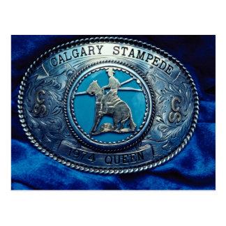 Hebilla del trofeo del rodeo del vaquero, Alberta, Tarjetas Postales