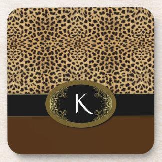 Hebilla encima del leopardo posavasos de bebidas