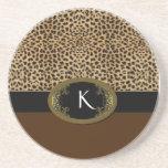 Hebilla encima del leopardo posavasos diseño