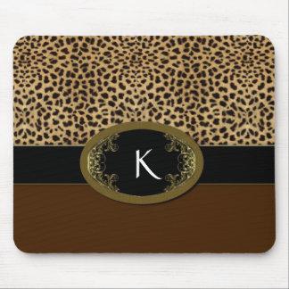 Hebilla encima del leopardo tapetes de raton
