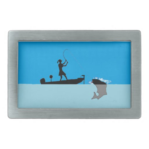 hebilla femaile de la pesca hebilla cinturón rectangular