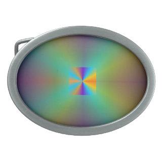 Hebilla iluminada arco iris del >Belt Hebillas Cinturon Ovales