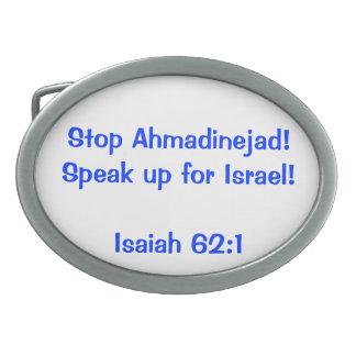 Hebilla israelí de la defensa hebilla cinturon oval