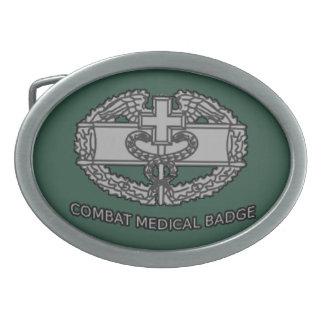 Hebilla médica de la insignia del combate del ejér hebilla de cinturon oval