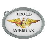 Hebilla ORGULLOSA de AMERICAN EAGLE Hebilla Cinturón Oval