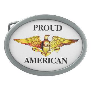 Hebilla ORGULLOSA de AMERICAN EAGLE Hebillas De Cinturón Ovales