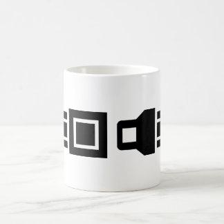 Hebilla para arriba taza básica blanca