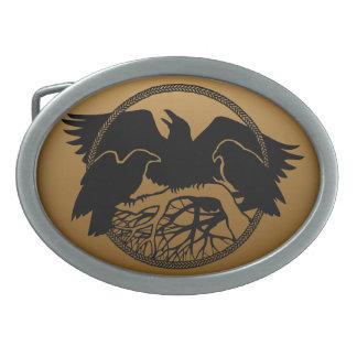 Hebillas aborígenes del arte del cuervo de la hebi hebilla cinturón