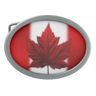 Hebillas canadienses del recuerdo de la bandera de hebillas cinturon ovales