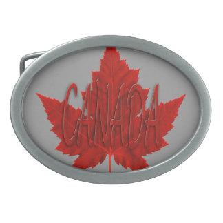Hebillas canadienses del recuerdo del arce de la h hebillas de cinturón ovales