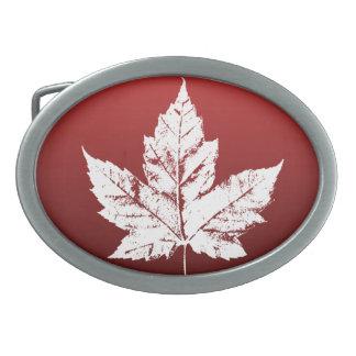 Hebillas canadienses frescas del recuerdo de la he hebilla cinturon oval