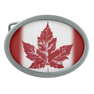 Hebillas canadienses frescas del recuerdo de la he hebillas de cinturon ovales