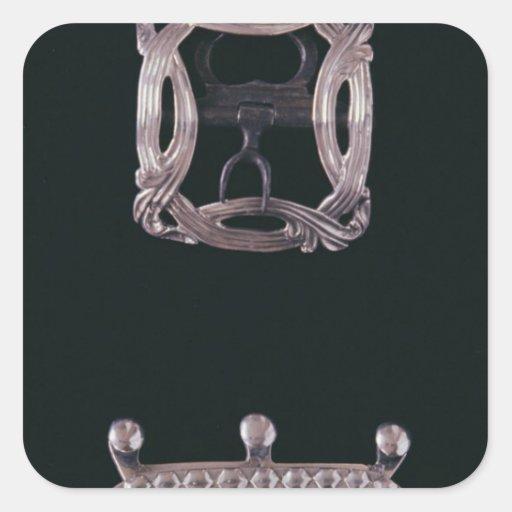 Hebillas de plata, ingleses, fin del siglo XVIII Colcomania Cuadrada