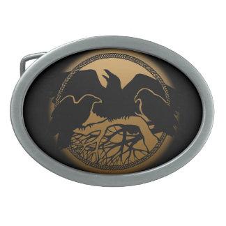 Hebillas del arte del cuervo de las naciones de la hebilla de cinturón