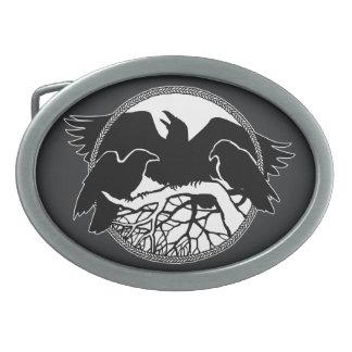 Hebillas del arte del cuervo de las naciones de la hebillas de cinturón ovales