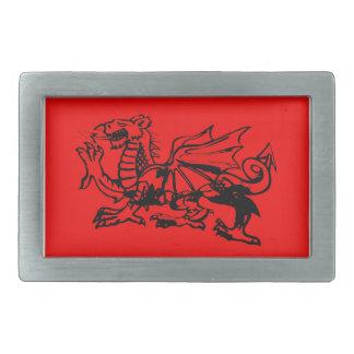 Hebillas del cinturón del dragón Galés Hebillas Cinturón Rectangulares