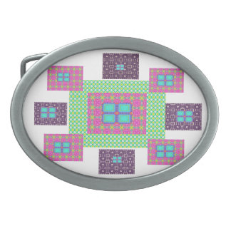 hebillas del diseñador de Katina Cote Hebillas De Cinturón Ovales