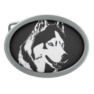 Hebillas fornidas del perro de trineo del Malamute Hebilla De Cinturon Oval