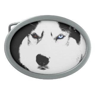 Hebillas fornidas del perro de trineo del Malamute Hebillas Cinturón Ovales