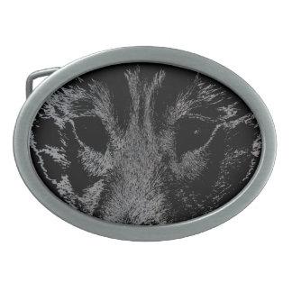 Hebillas fornidas del perro del lobo de lobo de la hebilla de cinturon oval