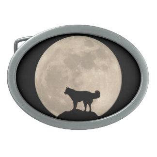 Hebillas fornidas del perro del lobo del Malamute  Hebilla De Cinturon Oval