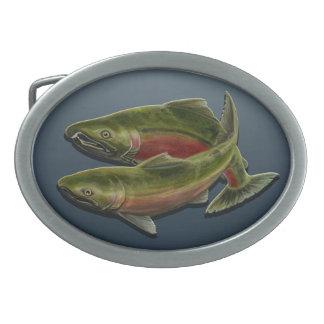 Hebillas pesqueras idas de los pescados de los hebilla de cinturon oval