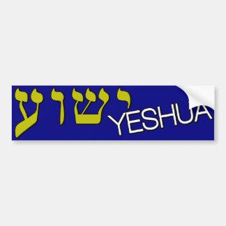 Hebreo de Yeshua Pegatina Para Auto