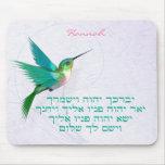 Hebreo del colibrí de la bendición de Aaronic Alfombrillas De Ratones