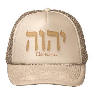 Hebreo moderno de YHVH Eloheinu Gorros Bordados