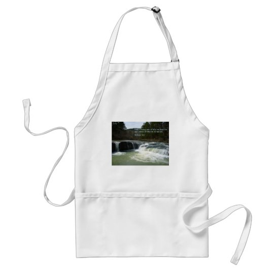 Hebrew 11:1  Waterfall Adult Apron