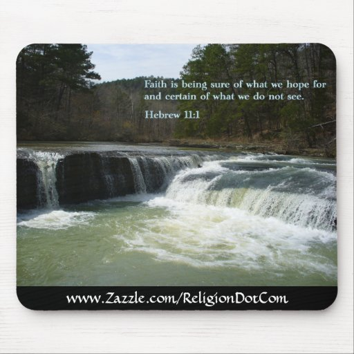 Hebrew 11:1  Waterfall Mousepads