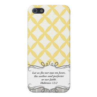 Hebrew 12:2  Modern Iphone case with Bible verse