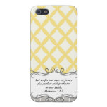 Hebrew 12:2  Modern Iphone case with Bible verse iPhone 5 Cases