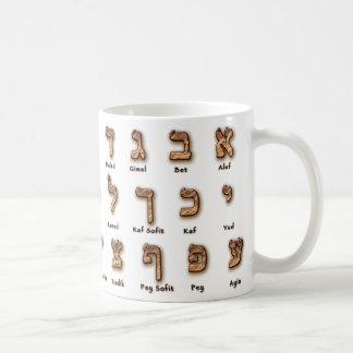 Hebrew Alef Bet Mug