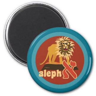 Hebrew Aleph Bet Lion Magnet
