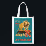 """Hebrew Alephbet ReUsable Grocery Tote-Add Name Grocery Bag<br><div class=""""desc"""">Hebrew Alephbet ReUsable Grocery Tote-Add Name. Save the planet. Holds up to 50 lbs. Add your own name or just have the art. Great for carrying your school supplies or cute birthday gift bag.</div>"""