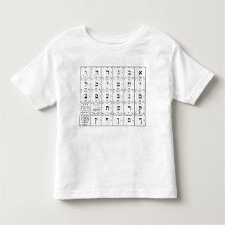 Hebrew Alphabet Letters Chart Toddler T-shirt