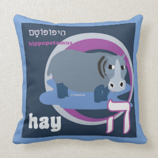 Hebrew Alphabet Pillow-Kids Bedroom Decorating-Hey Throw Pillow