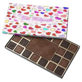 Hebrew Bat Mitzvah Multi Hearts Chocolate Box