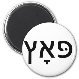 Hebrew for PUTZ Magnet