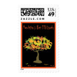 HEBREW LETTERS TREE Bar  Bat Mitzvah Postage Stamp