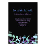 HEBREW LETTERS TREE Bar Mitzvah Party Card Personalized Invite