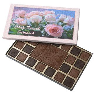 Hebrew Pesach Roses Chocolate Box