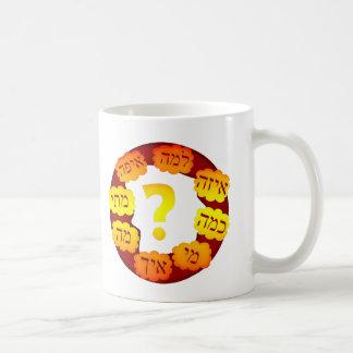 Hebrew Question Coffee Mugs
