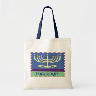 Hebrew Script Menorah Bags