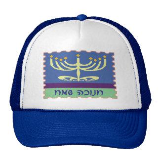 Hebrew Script Menorah Hats