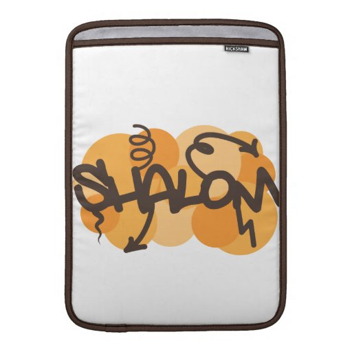 Hebrew shalom in graffiti style sleeve for MacBook air