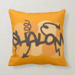Hebrew shalom in graffiti style pillow