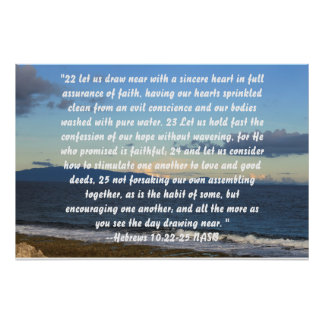 Hebrews 10:22-25 poster
