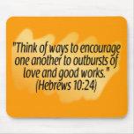 Hebrews 10:24 mouse pad